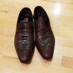 Men's ostrich leather shoes